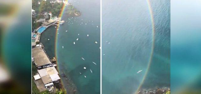 Videón a bizonyíték, hogy a szivárványok valójában teljes kört formáznak