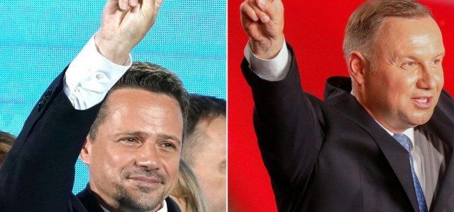 Fej-fej mellett áll az ellenzéki és a kormánypárti elnökjelölt Lengyelországban