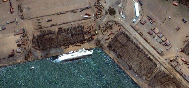 Elsüllyedt egy óceánjáró a bejrúti robbanás után