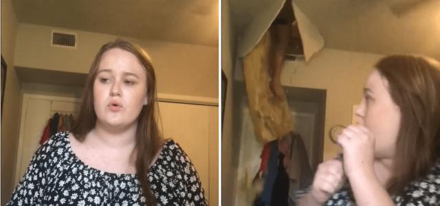 TikTok-videót csinált, amikor az anyja egyszer csak átzuhant a plafonon