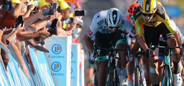 Helyet csinált magának a kerékpáros a Tour sprintbefutóján, de lebukott