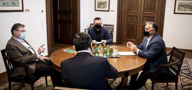 A gazdasági kamara elnökével tárgyalt Orbán