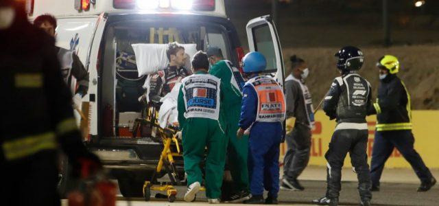 Grosjean az égési sérülései miatt kórházban tölti az éjszakát