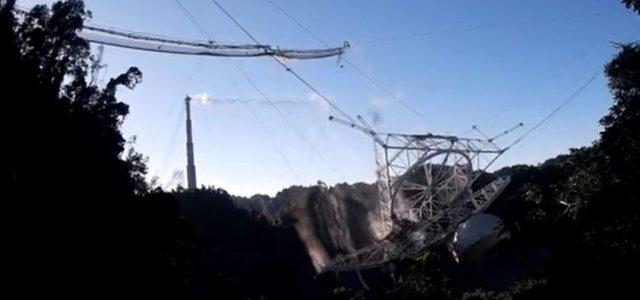 Videón, ahogy összeomlik a világhírű obszervatórium