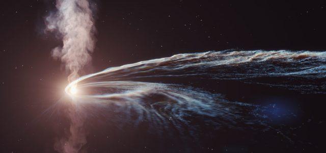 Szellemrészecskéket észleltek egy fekete lyuknál