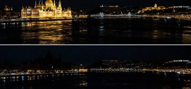 Budapest egy órára elsötétült