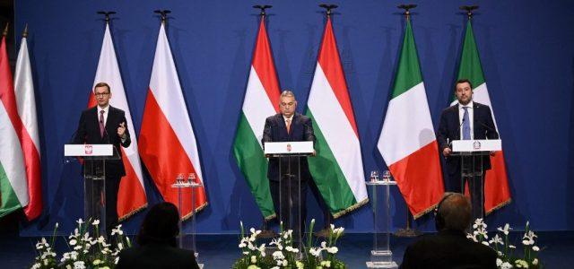 Új európai reneszánszról beszélt Orbán Viktor Salvini és Morawieczki mellett